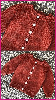 Knitting Pattern Baby Boy Knitting Patterns Free, Baby Sweater Patterns, Knitting For Kids, Easy Knitting, Cardigan Pattern, Cardigan Bebe, Knitted Baby Cardigan, Knit Baby Sweaters, Baby Boy Cardigan