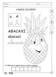 JORNAL PONTO COM: Atividade escolar - Abecedário frutas, animais, ob...