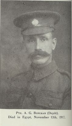 A Bowman: one of the many men from our York factory who gave their lives in the First World War.