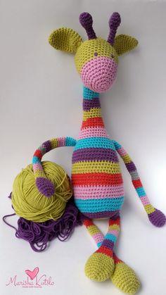 вязанные игрушки, игрушки крючком, аммигуруми, жираф крючком