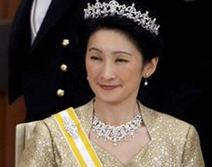 Princess Kiko of Japan Diamond Tiaras- one on her head, the other a necklace?
