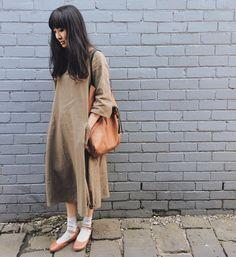@ellennakamura Mama made this Lily linen dress by @tessutifabrics ✂️