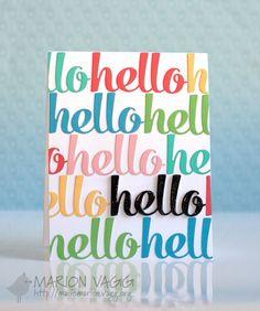 Card idea and inspiration - hello card