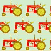 spoonflower. rens tractors. neat-o colors!