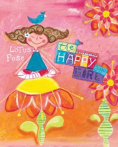 The happy yoga girl   i do care designs  by Jazmin Sasky