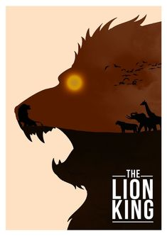 """Minimalist poster: The Lion King """"11 Clever Minimalist Disney Posters"""""""