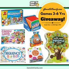 Games for 3-6 Yrs Giveaway: Win 7 Children's Games! #kids