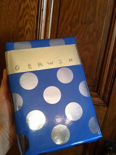 """Creative wrapping using Silver Duct tape for Gerwin's birthday gift, the book titled """"Made to Stick"""""""
