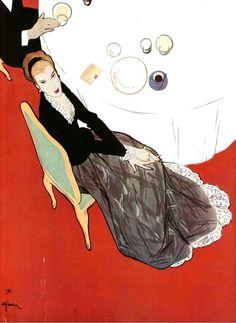 Illustrated by Rene Gruau, 1947