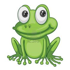 illustration of green frog on a white background Stock Photo - 15480591