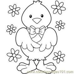 Pages printable coloring chicken