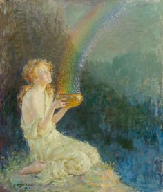 Arthur Prince Spear, (American painter, 1879-1959) Pot of Gold, 1921