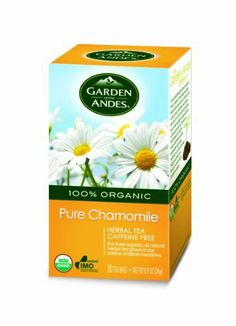 Garden of the Andes 100% Organic Herbal Tea, Chamomile, 20-Count by Garden of the Andes. $8.20. Imagine an emerald green field at the foothills of the Andes, dotted as far as the eye can see with the white nodding heads of daisies. That's where the flowers for this Chamomile tea grow. Undisturbed, organically, the way nature intended. Exceptional in flavor and aroma, this Chamomile variety is considered one of the best in the world. Each sip chases away worries, sooth...