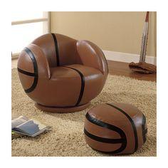 Basketball Kids Novelty Chair And Ottoman