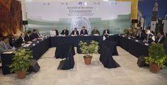 El secretario de Gobernación encabezó hoy en Guanajuato una Reunión de Seguridad estatal para analizar las acciones que realizan conjuntamente el gobierno federal, los estatales y municipales, en favor de ...