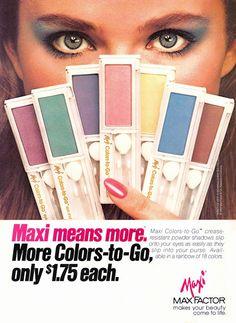 NANCY DE WEIR Max Factor Ad   1980s