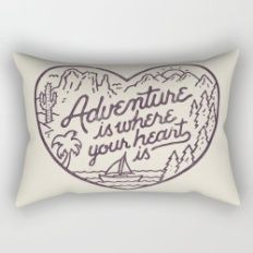Adventure is where your heart is Rectangular Pillow