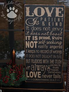 Love Is Primitive Word Art Typography Subway by GoldieLooWoodworks, $36.00