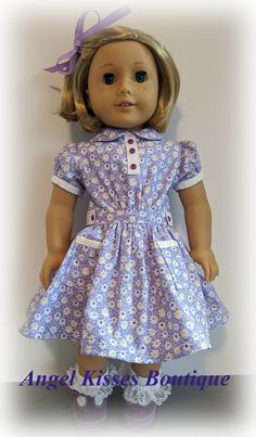 AMERICAN MADE DOLL CLOTHES FOR 18 INCH GIRL DOLLS DRESS LOT  PURPLE