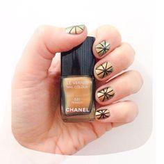 Gold nails #nails #chanel #nailart