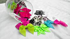 Mini hair bow/ Great For Newborns by AmalieBowtique on Etsy, $2.00