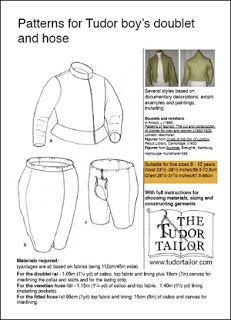 Pattern for Tudor Boy's Doublet and Hose Medieval Clothing, Historical Clothing, Tudor Tailor, Patterns Of Fashion, Medieval Costume, Doublet, Renaissance Fair, Documentaries, Sewing Patterns