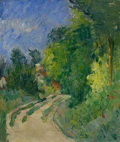 Paul Cézanne, **Bend in the Road Through the Forest (La route tournante en sous-bois) 1873-1875 on ArtStack #paul-cezanne #art