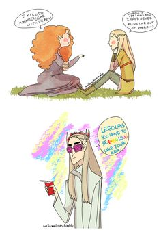 Merida and Legolas do seem to have a lot in common..... BWAHAHAA