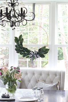 Magnolia Leaf Hoop Wreath | Less Than Perfect Life of Bliss | home, diy, travel, parties, family, faith