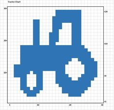 Crochet Tractor Chart | Crochet Pattern | Crochet Collections