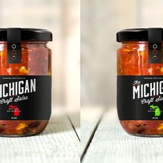 *** high end salsa maker, michigan craft salsa, needs your talents to perfect our packaging! Spices Packaging, Food Packaging Design, Bottle Packaging, Packaging Ideas, Packaging Design Inspiration, Brand Packaging, Jar Design, Label Design, Michigan Crafts