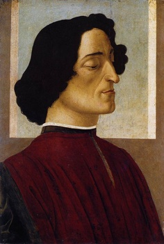 Sandro Botticelli - Ritratto di Giuliano de' Medici (1478-1480) Accademia Carrara, Bergamo
