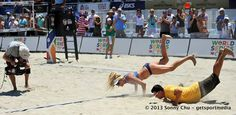 Gotta love Geeter and April Ross pulling off the double worm at the World Series of Beach Volleyball last week!