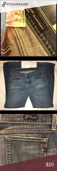 Citizen of Humanity husband Reselling item I bought online. Item, size 29 low-waist jeans from Citizens of Humanity, are a really nice, good quality (slight wear visible on the bottom of the legs), it's my bleeping body that's the problem. Only in my mind do/can I still wear a 29. They feel like a solid, durable pair of jeans-I hope someone can give them the exciting life they were obv. made for!   Kelly #001 stretch low-waist bootcut.   Bundle to optimize shipping costs (& generate a bundling discount!)! Citizens Of Humanity Jeans