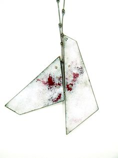 Inspiring necklace by jewelry designer Galit Barak; Fragments necklace  Copper, sterling silver, enamel, steel screws  2013