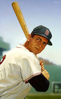 Carl Yastrzemski of the Boston Red Sox by Arthur K. Miller.