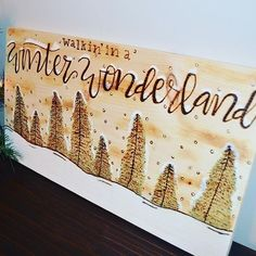 Winter wonderland wood burning