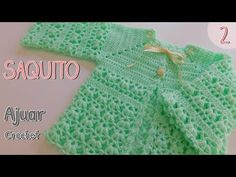 Cómo tejer un ajuar: bolso de ganchillo o suéter - Crochet Enfant Crochet Baby Sweaters, Crochet Baby Cardigan, Crochet Baby Blanket Beginner, Baby Girl Crochet, Crochet Baby Clothes, Love Crochet, Crochet For Kids, Baby Knitting, Crochet Ideas