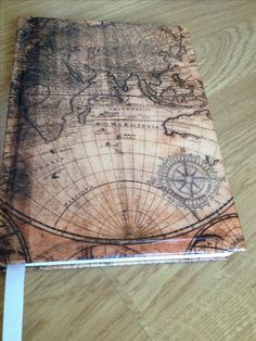 Diy journal old map of the world. Love it!