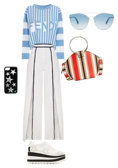 """""""Принт"""" by kati-style-istanbul ❤ liked on Polyvore featuring Fendi, STELLA McCARTNEY, GUESS and Christian Dior"""