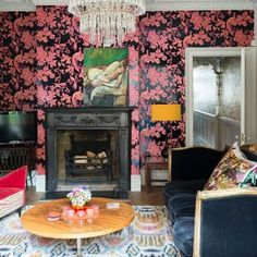 Be inspired by this flamboyant Edwardian townhouse in south London Townhouse Interior, Living Room Decor Inspiration, Modern Flooring, British Home, London House, Flamboyant, Design Trends, Colour Trends, Design Concepts