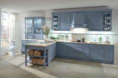 grijs blauwe keuken - Google zoeken