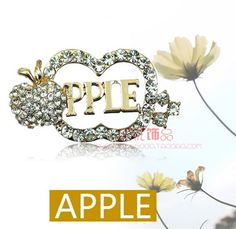5 piece lot Crystal apple alloy diy bling phone deco etc Phone Covers, Craft Supplies, Bling, Apple, Crystals, Crafts, Medium, Jewelry, Decor