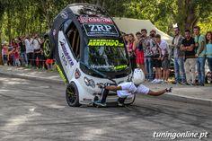 Smart car stunt