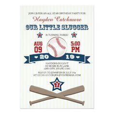 BASEBALL BIRTHDAY INVITATION FOR CHILDREN