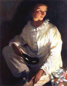 Zinaida Serebryakova - self-portrait as Piero (1911) - Pierrot - Wikipedia, the free encyclopedia