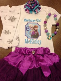 Frozen birthday outfit Disney frozen birthday by SaraSewtique