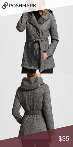 Women's Fleece Lined Jacket with Belt Beautiful for fall! Brand new without tags, has one button in the middle and a matching sash belt. Inside is fleece lined and super warm. Outside is extremely soft and comfortable. Really an awesome jacket; I wish it fit me. Can also easily fit a medium. Merona Jackets & Coats Pea Coats