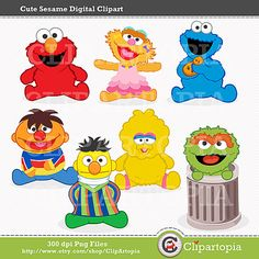 Cute Sesame Digital Clipart / Digital Clip Art For by ClipArtopia, $5.00