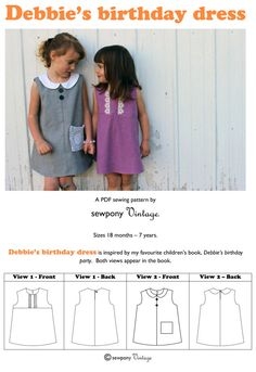 Debbie's birthday dress PDF sewing pattern